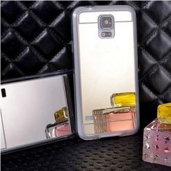 Galaxy S5 / S5 Neo mirror - lustro silikonowe etui lustrzane TPU - złote.
