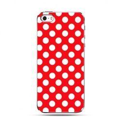 Etui na iPhone 4s / 4 -  czerwona polka dot