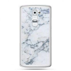 Etui na telefon LG G2 biały marmur