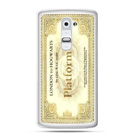 Etui na telefon LG G2 bilet platform 9 3/4 Harry Potter