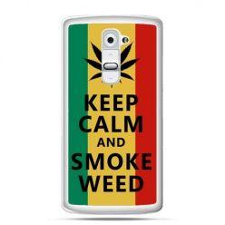 Etui na telefon LG G2 Keep Calm and Smoke Weed