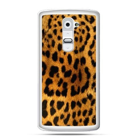 Etui na telefon LG G2 skóra lamparta