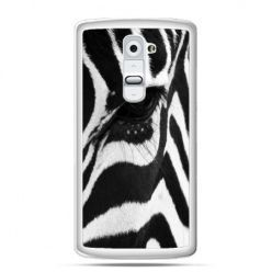 Etui na telefon LG G2 zebra