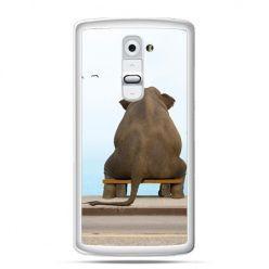 Etui na telefon LG G2 zamyślony słoń