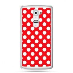 Etui na telefon LG G2 czerwona polka dot
