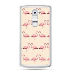 Etui na telefon LG G2 flamingi