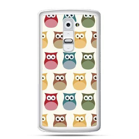 Etui na telefon LG G2 kolorowe sowy