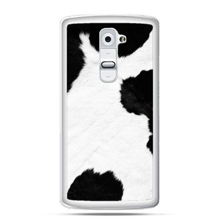 Etui na telefon LG G2 łaciata krowa