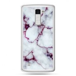 Etui na telefon LG K10 różowy marmur