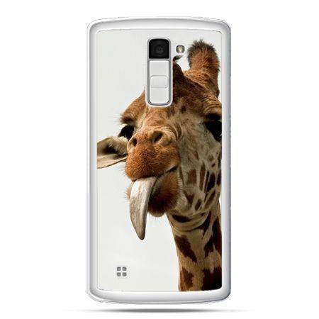 Etui na telefon LG K10 żyrafa z językiem
