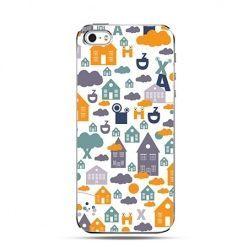 Etui na iPhone 4s / 4 - kolorowe domki