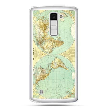 Etui na telefon LG K10 mapa świata