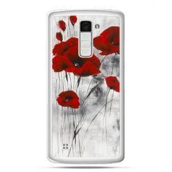 Etui na telefon LG K10 czerwone maki