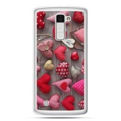 Etui na telefon LG K10 pluszowe serduszka