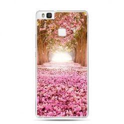 Etui na Huawei P9 Lite różowy park, liście.