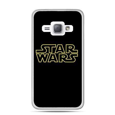 Etui na Galaxy J1 (2016r) Star Wars Złoty Napis.