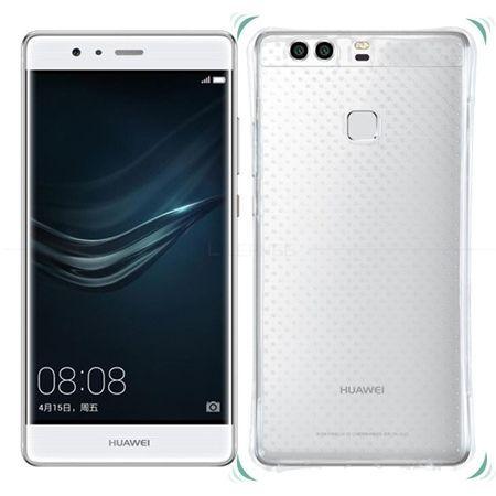 Huawei P9 silikonowe etui przezroczyste crystal case Air-Shock Corner.