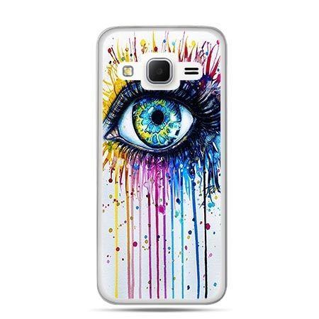 Etui na Galaxy J3 (2016r) kolorowe oko