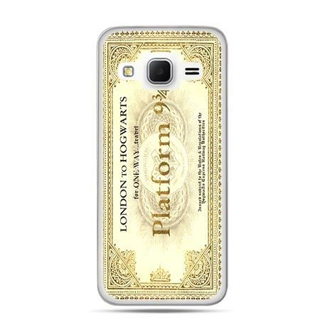Etui na Galaxy J3 (2016r) bilet platform 9 3/4 Harry Potter