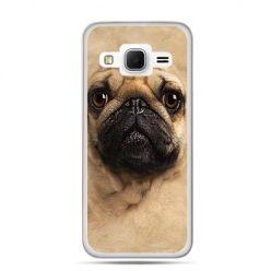 Etui na Galaxy J3 (2016r) pies szczeniak Face 3d