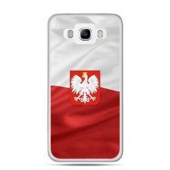 Etui na telefon Galaxy J5 (2016) patriotyczne - flaga Polski z godłem