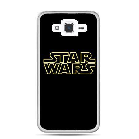 Etui na Galaxy J7 (2016r) Star Wars złoty napis