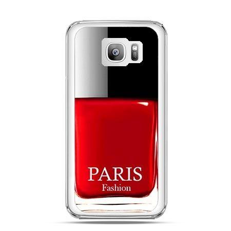 Etui na telefon Galaxy S7 Edge lakier do paznokci czerwony