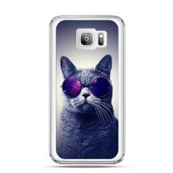 Etui na telefon Galaxy S7 Edge kot hipster w okularach