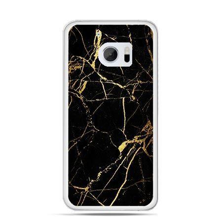 Etui na telefon HTC 10 złoty marmur
