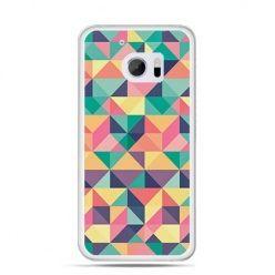 Etui na telefon HTC 10 kolorowe trójkąty