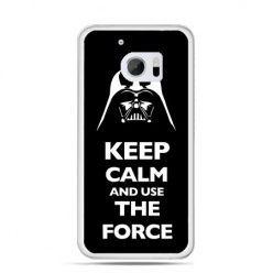 Etui na telefon HTC 10 Keep calm and use the force