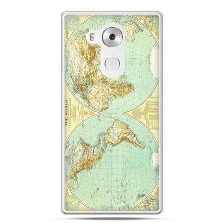 Etui na telefon Huawei Mate 8 mapa świata