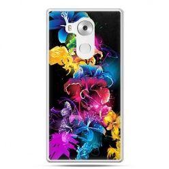 Etui na telefon Huawei Mate 8 kolorowe kwiaty