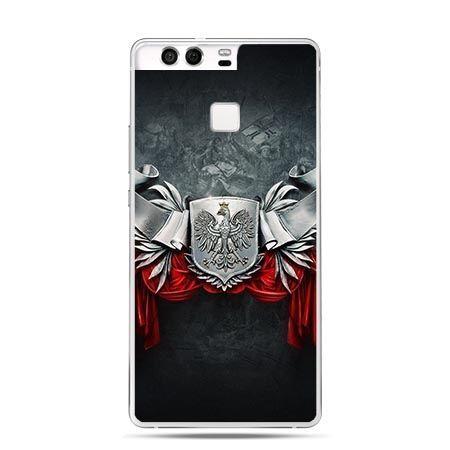 Etui na telefon Huawei P9 patriotyczne - stalowe godło