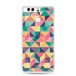 Etui na telefon Huawei P9 kolorowe trójkąty