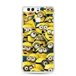 Etui na telefon Huawei P9 Minionki grupa
