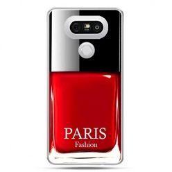 Etui na telefon LG G5 lakier do paznokci czerwony