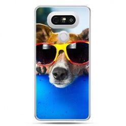 Etui na telefon LG G5 pies w kolorowych okularach