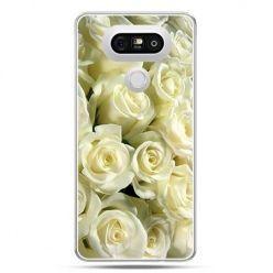 Etui na telefon LG G5 białe róże