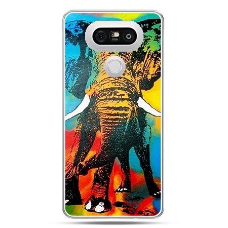 Etui na telefon LG G5 kolorowy słoń
