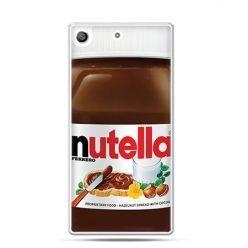 Etui na telefon Xperia M5 - Nutella czekolada słoik.
