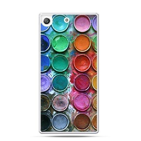 Etui na telefon Xperia M5 kolorowe farbki