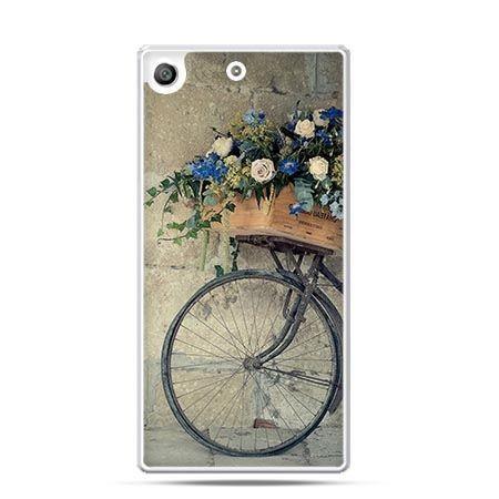 Etui na telefon Xperia M5 rower z kwiatami