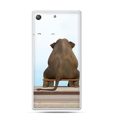 Etui na telefon Xperia M5 zamyślony słoń