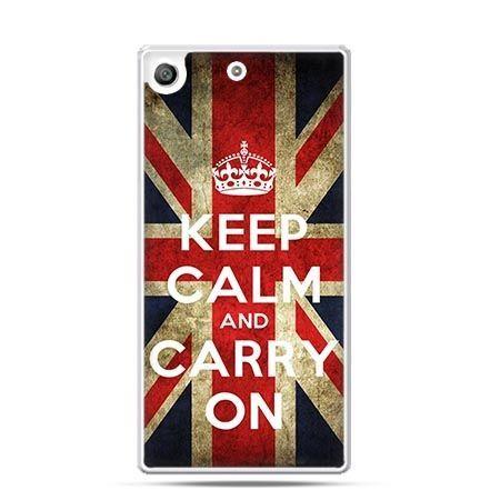 Etui na telefon Xperia M5 Keep calm and carry on