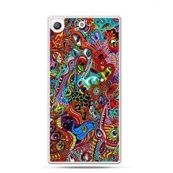 Etui na telefon Xperia M5 kolorowy chaos
