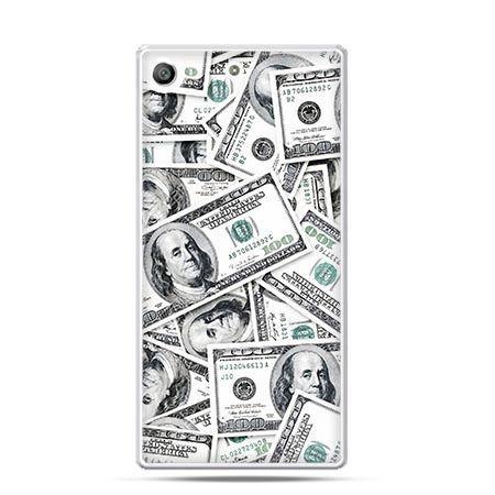 Etui na telefon Xperia M5 dolary banknoty