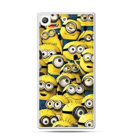 Etui na telefon Xperia M5 Minionki grupa