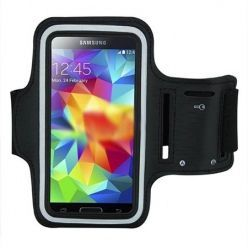 Uniwersalne etui na ramie do biegania na telefon - czarne.