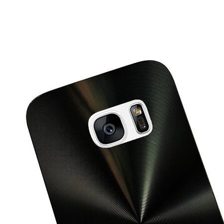 Samsung Galaxy S7 plecki aluminiowe efekt cd - czarne. PROMOCJA !!!